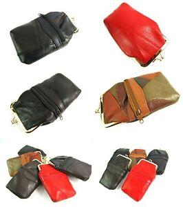 New Soft Patchwork Genuine Leather Cigarette Case Holder with Lighter Pocket