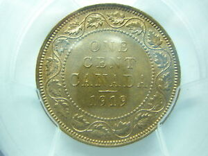 CANADA 1 cent 1919 PCGS MS 64 RB RED UNC