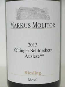 Markus MOLITOR 2013 Zeltinger Schlossberg Riesling Auslese** Goldkap. 97 PParker