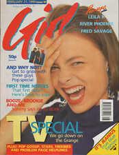 Girl Magazine 21 February 1990  River Phoenix  Fred Savage Leila K Jason Donovan