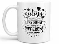 Autism Awareness Coffee Mug Or Cup Traveling Life's Journey Using A Different