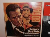 Treasure of Sierra Madre -Maltese Falcon...2  radio broadcasts on vinyl