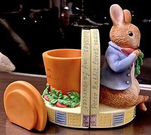 Beatrix Potter Peter Rabbit Bookends PLUS 'A Child's Treasury of Beatrix Potter'