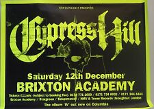 "Album Poster~Cypress Hill Live at Brixton Academy 1993 30x40"" Neon Original~Huge"