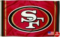 SAN FRANCISCO 49ERS RED FLAG 3'X5' NEW 3X5 BANNER FREE SHIPPING