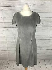 Women's French Connection Faux Suede Dress - UK12 - Grey - Great Condition
