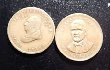 JOHN TYLER AND ULYSSES S GRANT TOKENS!   ZZ719XDX