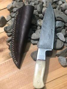 """10"""" MH KNIVES CUSTOM HANDMADE DAMASCUS STEEL MULTIPURPOSE CHEF KNIFE MH-307"""