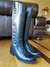 Steven by Steve Madden Woman's Black Leather Zip Knee High Riding Boots Size 8 M