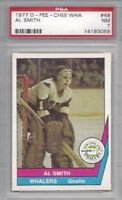 1977 OPC WHA hockey card #49 Al Smith, New England Whalers PSA 7 NM