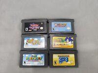 Nintendo Game Boy Advance Game Lot 6 Games Total Mario Sonic Yoshi Banjo Kazooie