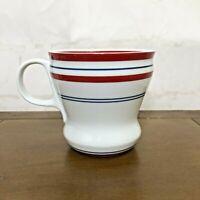 2007 Starbucks Red White Blue Stripe 12 ounce Coffee/Tea Mug/Cup Curvy