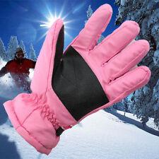 # Women Ski Gloves For Winter Outdoor Sports Snowboard Thermal Waterproof Pink