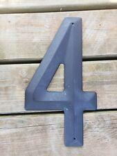 """14"""" Metal Steel """"4"""" FOUR ADDRESS NUMBER for House Home VINTAGE NOS Sign Plaque"""