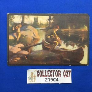 Boy Scout Vintage Scout Gum Co. Post Card Loading A Canoe C1914