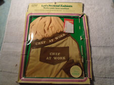 VINTAGE 1985 CABBAGE PATCH,FLOWER BABY DOLL CHEF AT WORK CLOTHS UNUSED 16-18''