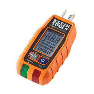 Klein Tools RT250 GFCI Receptacle Tester with LCD