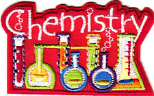 """""""CHEMISTRY""""-Iron On Embroidered Applique Patch/School, Learning, Research"""