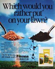 FISONS 'Evergreen 80' Lawn Fertilizer Advert - Original 1981 Print AD