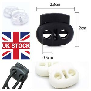 2 hole metal spring plastic end stopper 5mm cord locks end toggles for face mask