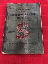 VINTAGE 1912-1913 SINGER SEWING MACHINE INSTRUCTION BOOKLET#8034-RARE