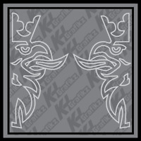 SCANIA GRIFFIN outline Truck Side Window vinyl sticker decal lorry Graphics x2