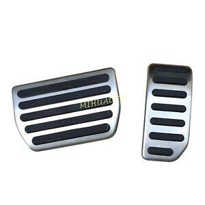 Non-Slip Steel Foot Gas Brake Pedal Pad Cover For Volvo S60 V60 XC60 S80