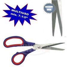 FORBICI MULTIUSO ACCIAIO INOX MIS 7 1/2' MANICO ROSSO/BLU X CASA UFFICIO FORBICE