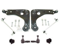 FORD KA  FRONT 2 WISHBONE ARMS + 2 LINKS 6 FIXING BOLTS TRACK ROD ENDS D BUSHES