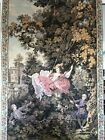 """Large Renaissance vintage tapestry 3' Across 58"""" Tall No Stains Or Tears  Nice!!"""