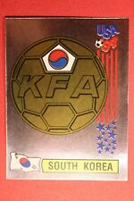 PANINI STICKERS USA 94 WORLD CUP N. 210 THE BADGE S. KOREA NEW BACK VERY GOOD!