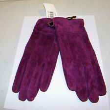 Kenneth Cole 100% Suede Size M Women's Gloves NEW with Tags Dark Lilac ??