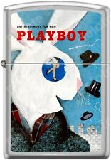 Zippo Playboy April 1954 Cover Satin Chrome Windproof Lighter NEW RARE