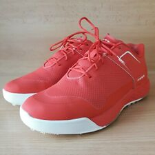 New listing Inesis Mens Golf Shoes Red White Size US 9.5 Lightweight Breath Mesh Decathlon