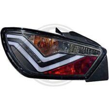 Back Rear Tail Lights Pair Set LED Clear Black Seat Ibiza 3 door 08-12