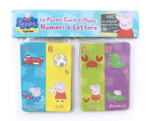 Peppa Pig Learning Flash Cards Alphabet Education Kids Work Toddler Babies Fun