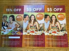 Planet Hollywood Spice Market Buffet 3 Discount Vouchers $5 Off And 15% Off