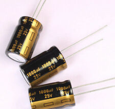 10pcs 1000uF 25v 105C Radial Electrolytic Gold Capacitor 13mm X 21mm