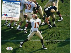CHARLIE WARD  FLORIDA STATE SEMINOLES 93 HEISMAN  PSA AUTHENTICATED SIGNED 8x10