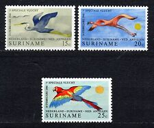 Suriname - 1971 Air service to Amsterdam / Birds Mi. 593-95 MNH