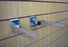 SLATWALL legname staffa dello scaffale cromato 350 mm venduti in coppia