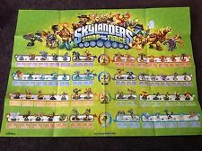 Skylanders SWAP Force starter poster shows all 56 figures - STINK BOMB, SPY RISE