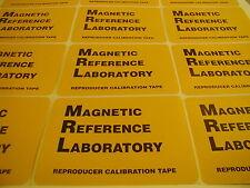 "MRL 1/4"" NEW proaudio test tape"