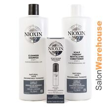 Nioxin System 2 Cleanser + Conditioner 1000ml & Treatment 100ml  NEW RELEASE