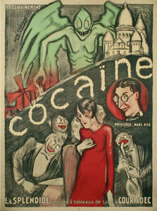 Framed Print - Vintage French Cocaine Propaganda Poster (Picture Drugs Weed Art)