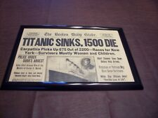 Titanic Newspaper 1912 Boston Globe/Marsh Murder Story/Ty Cobb Quits Team !