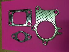 T3 TURBO GARRETT IHI T3/T4 HOLSET TURBOCHARGER GASKET 5 BOLT DOWNPIPE COMBO KIT