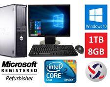 Dell Windows 10 Desktop Computer Intel Core 2 Duo 3.0GHz 8GB RAM 1TB HDD Wifi