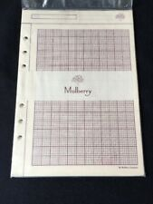 Organiser/Filofax RARE MULBERRY PLANNER LARGE BOX GRAPH PAPERPACK 210x150mm-SEAL