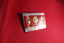 MANCHESTER UNITED - 1996  HONOURS  LARGE  BADGE
